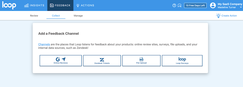 Connect Customer Feedback Channels in Loop